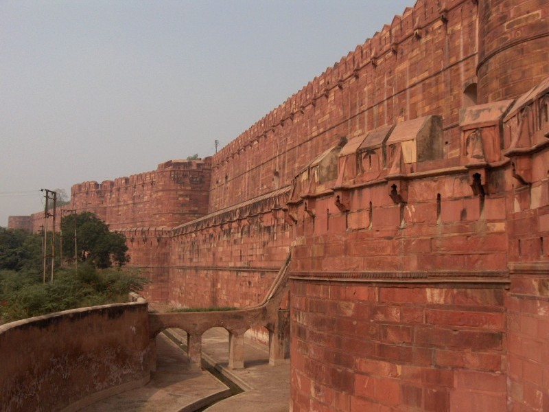 Agra Fort Side Walls