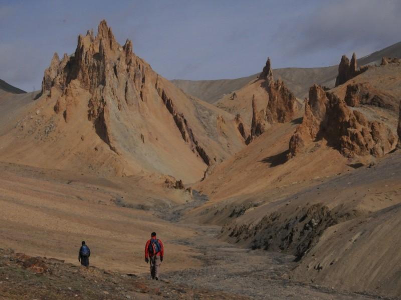 Rock formations near Hanupatta