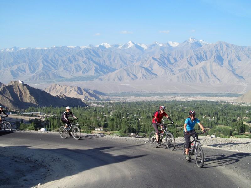 Biking around Leh