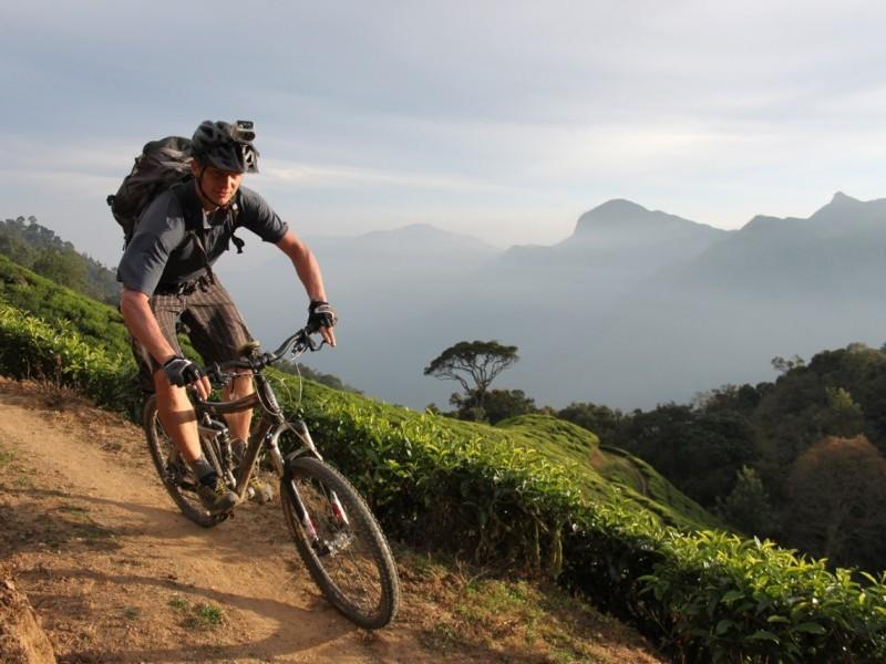 Biking around Munnar