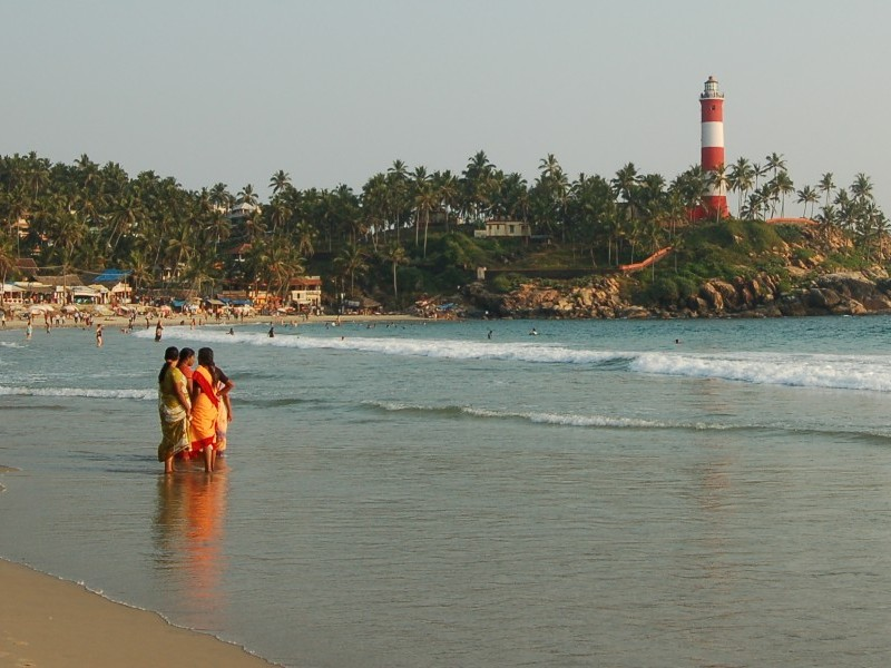 Kovalam beach light house