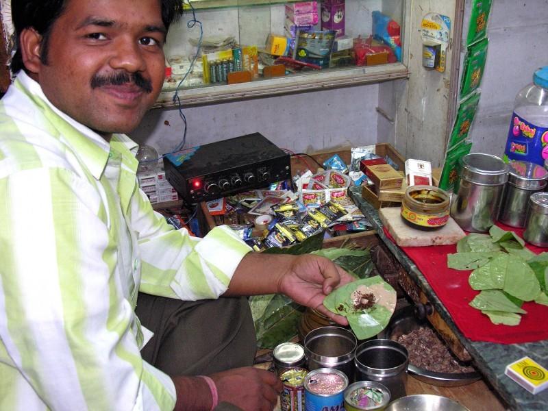 Man Preparing Banarasi Paan