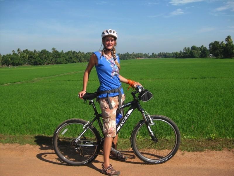 Cycling through lush south India