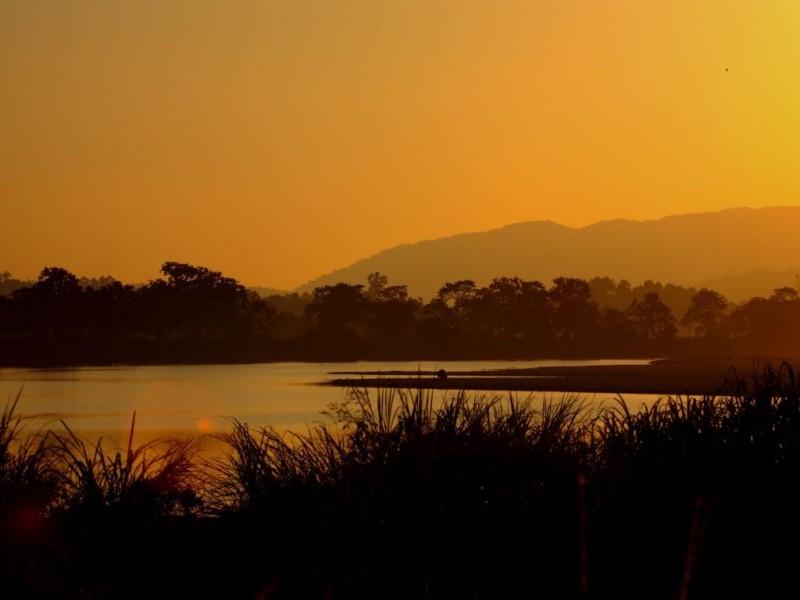 Sunset over Brahmaputra