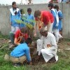 Participating with village school students