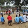 Playing with village school students