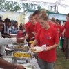 Lunch with village school students