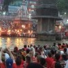 Evening puja ceremony at Har-Ki-Pauri Ghat on the River Ganges
