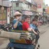 Family enjoying Rickshaw Ride in Madurai