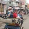 Family enjoying Rickshaw Ride in Madurai
