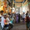 Family visiting local shops in Meenakshi Temple, Madurai