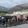 Biking tour besides the chortens