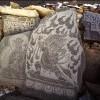 Elaborately carved mani (prayer) stones