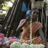 Lady selling jasmine flower, Pondicherry