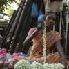 Lady selling jasmine flower, Pondicherry