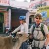 Cycling through villages near Pushkar