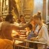 Tikka & Aarti inside Meenakshi Temple