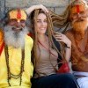 Tourist and Sadhus, Rishikesh