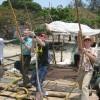Using Chinese fishing nets