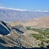 Route downwards from Khardung La (5602M)